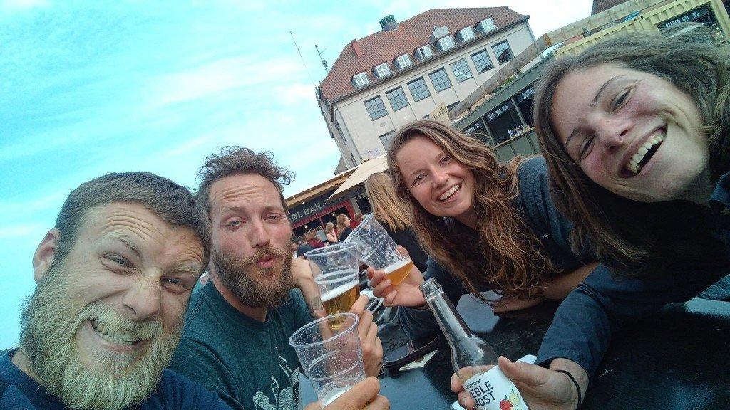 Et une autre petite bière avec nos Mika et Martin