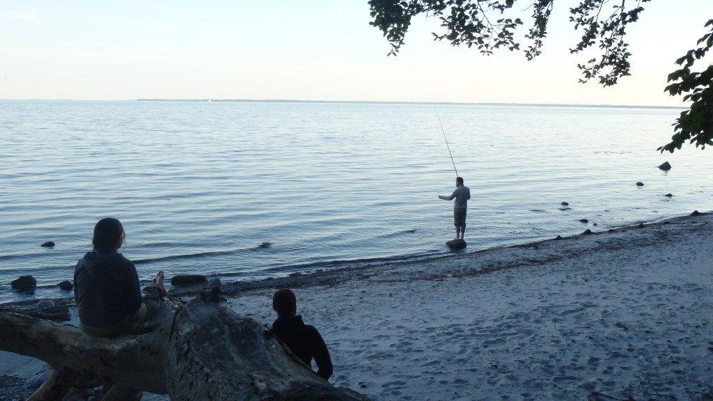 Petite tentative de pêche au soleil couchant