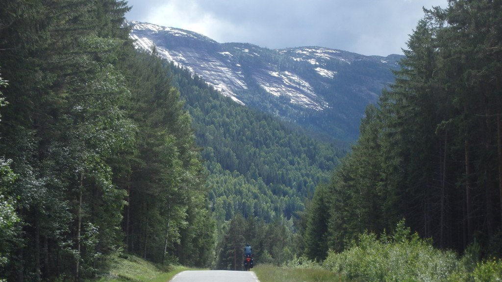En route pour le chalet de Berit en Gunnar