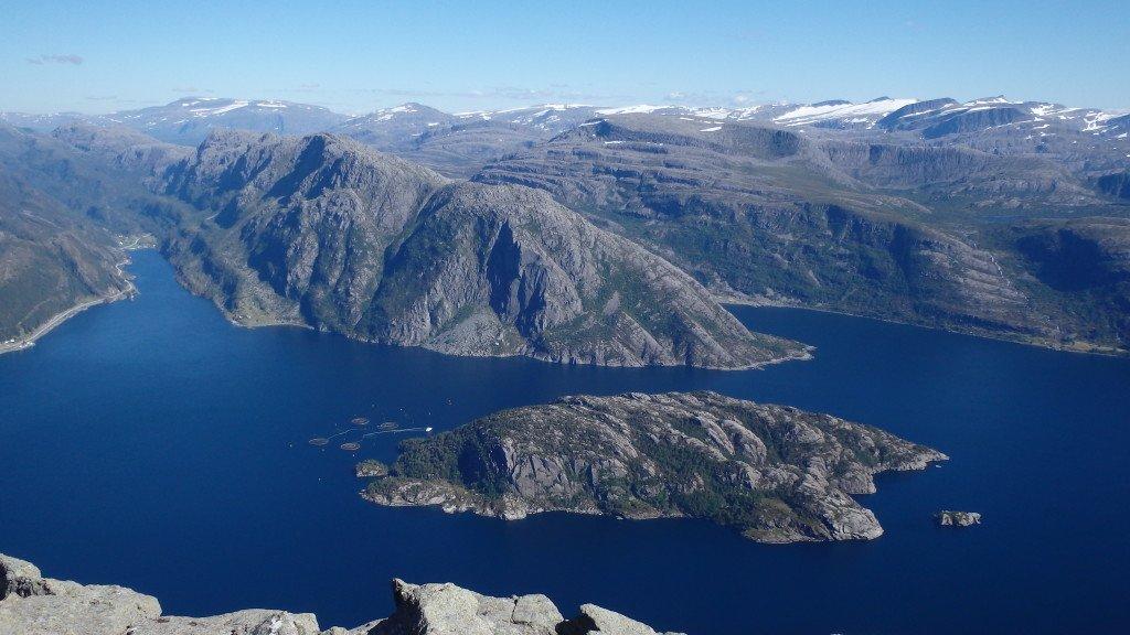 Panorama depuis Hornelen