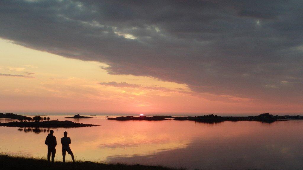 Coucher de soleil sur l'Atlantique (il est 23h)