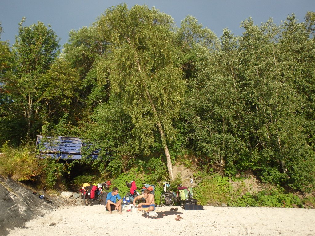 Wild camping sur la plage (vers Orkanger)
