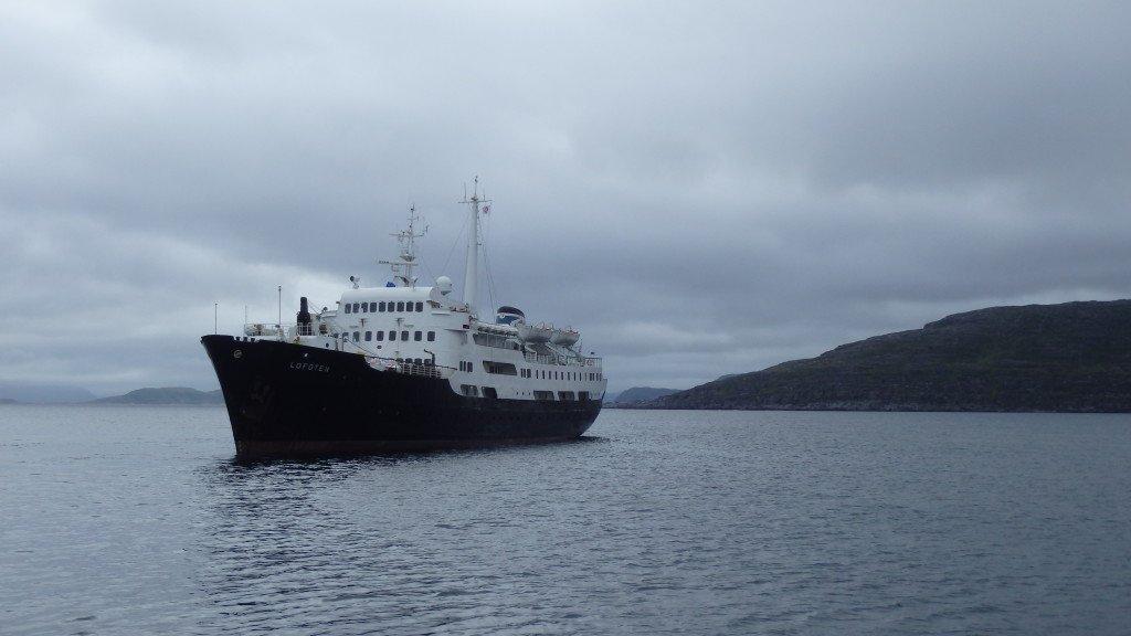 Le MS Lofoten, plus vieux navire de la compagnie Hurtigruten