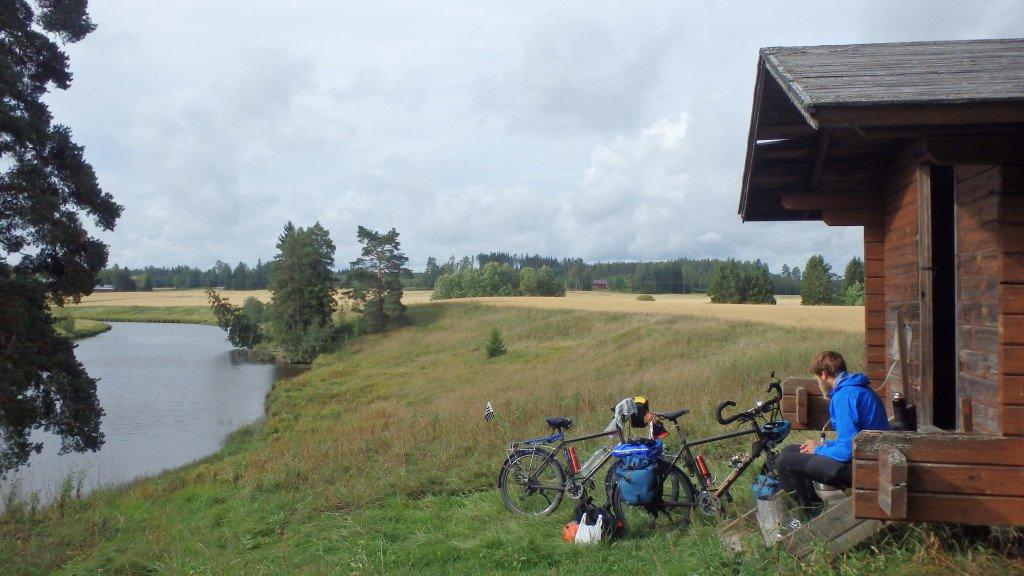 Bivouac dans la cabane entre Lahti et Helsinki